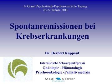 Kappauf, Spontanremissionen bei krebserkrankungen (4 ... - LSF Graz
