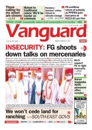 12032021 - INSECURITY: FG shoots down talks on mercenaries