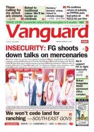 12032021 - INSECURITY: FG shoots down talks on mercenaries