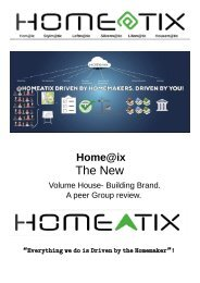 Home@ix The New Volume House Building Brand, a Peer Group Review. Site Requirements.