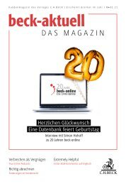 beck-aktuell – DAS MAGAZIN 01/2021