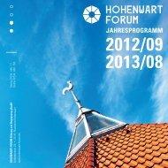 jahresProgramm 2012/09 2013/08 - Hohenwart Forum