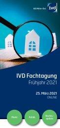 IVD Frühjahrs-Fachtung 2021 vom IVD Mitte-Ost