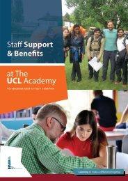 The UCL Academy Staff Support & Benefits Handbook