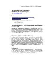 10.1.4 Nicht-vaskuläre, nicht-melanozytäre benigne Hauttumoren