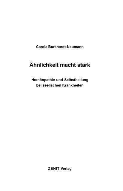 Ähnlichkeit macht stark - ZENIT Verlag