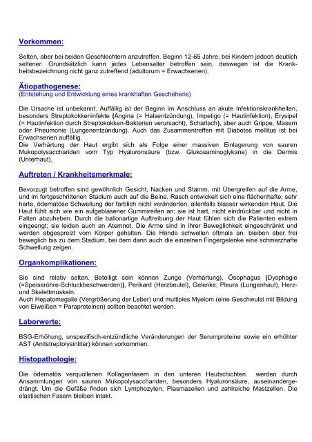 Scleroedema adultorum Buschke (SAB) eV