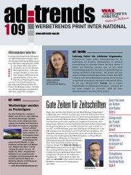 Der Duft des Neuen - WAZ Zeitschriften Marketing