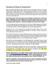 Leitfaden - Reinigung und Pflege - Stolpersteine in Hamburg