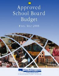FY 2008 Approved Budget - Prince William County Public Schools