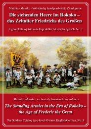 Die stehenden Heere im Rokoko – das Zeitalter Friedrichs des Großen