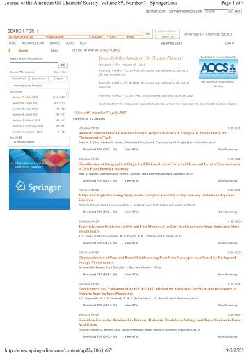 Page 1 of 4 Journal of the American Oil Chemists' Society, Volume ...