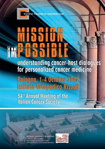 55th Annual Meeting of the Italian Cancer Society - Centro ...