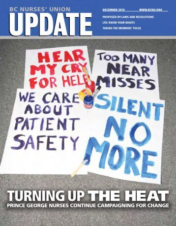 TURNING UP THE HEAT - British Columbia Nurses' Union