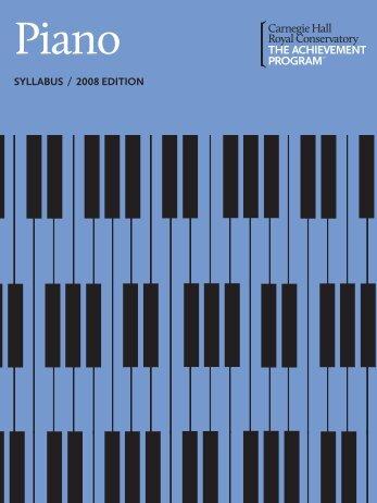Piano Syllabus, 2011 Online Publication - The Achievement Program