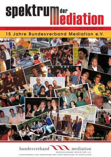 Spektrum der Mediation 27 - Bundesverband Mediation eV