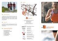 ...denn Laufen will gelernt sein! - Proactiv-Sportpromotion