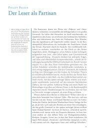Philipp Felsch: Der Leser als Partisan (PDF)