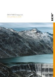 BKW FMB Energy Ltd. Annual Report 2008 W Gr It e of dis pa pe po ...