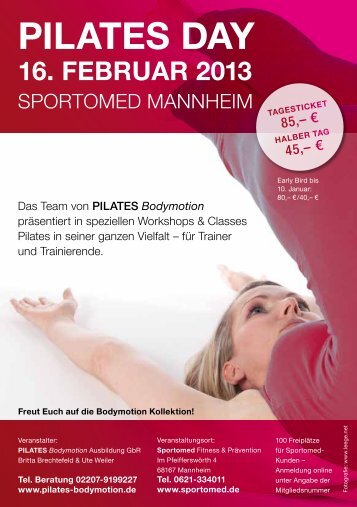 PILATES DAY 16. FEbruAr 2013 - Pilates Bodymotion