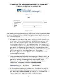Sponsoring-Vereinbarung