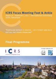 Final Programme - International Cartilage Repair Society