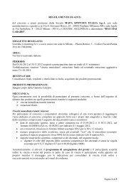REGOLAMENTO (IG 62/12) del concorso a premi ... - Spontex