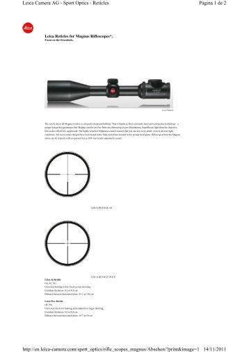 Página 1 de 2 Leica Camera AG - Sport Optics - Reticles ... - Ardesa
