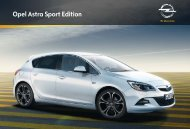 Flyer Opel Astra Sport Edition - Opel.ch
