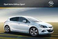 Opel Astra Edition Sport - Opel-Infos.de