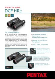 Datenblatt DCF HRc auf Deutsch - Sport Optics - Pentax