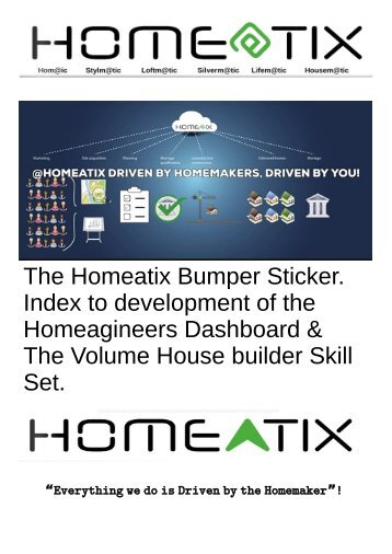 """Empowering """"Homeagineeers"""" With a Volume House Builders Skill Set since 2021"""