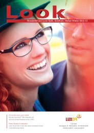 Newsletter von Luxor Optik, Solothurn, Herbst/Winter 2012/13