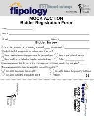 Bus Tour  Mock Auction Card