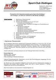 Sport-Club Düdingen - SC Düdingen