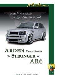 Arden RangeRover Sport AR6 Stronger Preisliste (deutsch)