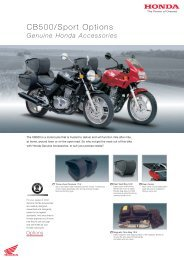 CB500/Sport Options - Doble Motorcycles