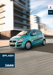 Gut aussehen ist immer in. - Suzuki