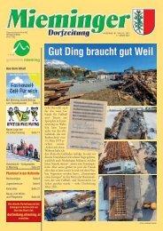 Mieminger Dorfzeitung - März 2021