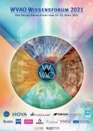 WVAO Wissensforum 2021 - Programm