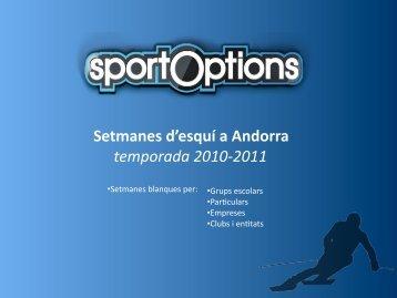 Setmanes blanques a Andorra - Sport Options