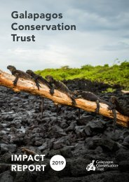 2019 Impact Report - Galapagos Conservation Trust