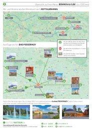 Karte zur K&N-Reise MUSIK- & KULTUR-URLAUB IN MITTELBÖHMEN