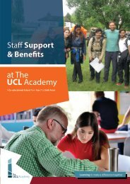 The UCL Academy Staff Support & Benefits Handbook