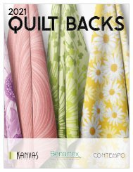 2021 Quilt Backs Catalog - March Edition