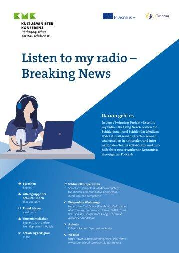 """Projektkit: """"Listen to my radio - Breaking News"""""""