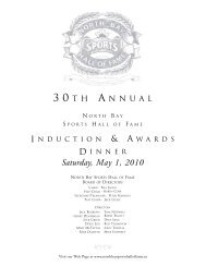 2010 hall of fame_2005 hall of fame - the North Bay Sports Hall of ...