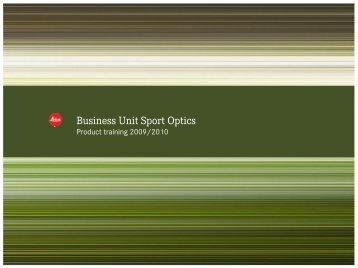 Business Unit Sport Optics - Leica