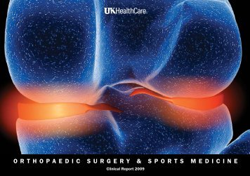 orthopaedic surgery & sports medicine - UK Healthcare - University ...