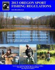 2013 OregOn SPOrT FISHIng regulaTIOnS - Oregon Department of ...